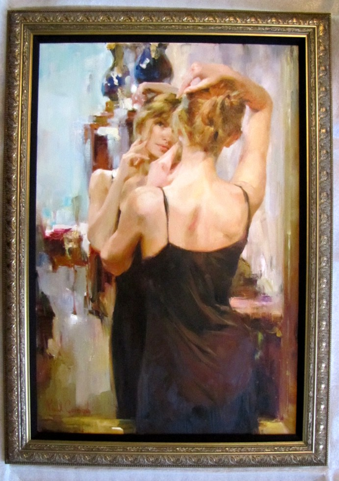 Beauty - original painting - by Michael and Inessa Garmash