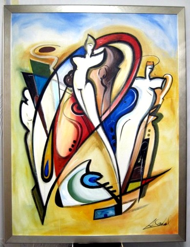 Alfred Gockel - The Awakening - original oil on canvas painting