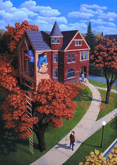 Rob Gonsalves - Tree House in Autumn