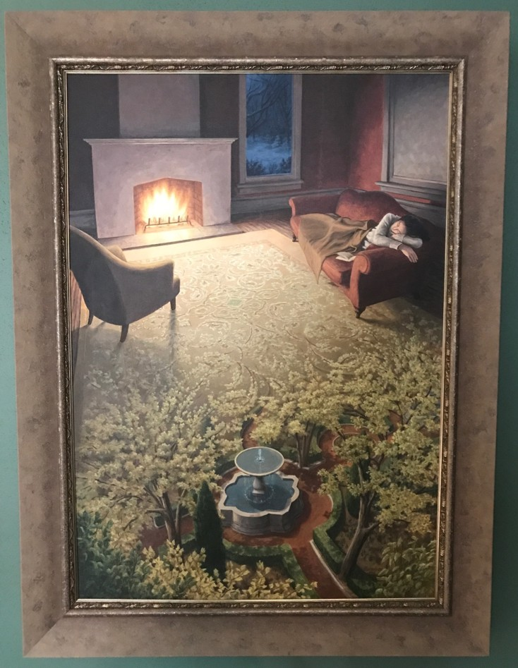 Rob Gonsalves - The Weaving or a Spring Dream - Original painting on canvas