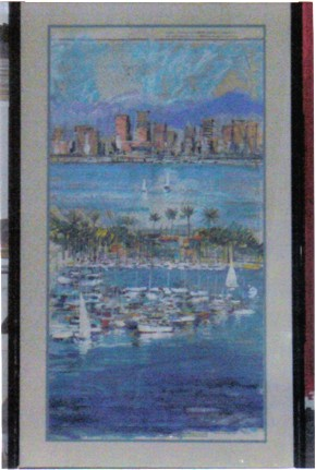 Kerry Hallam - San Diego Bay Nautical Navigational Chart
