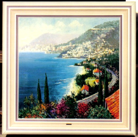 Kerry Hallam - Grand Corniche original painting