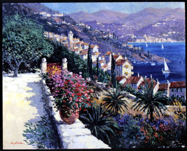 Kerry Hallam - Riviera original painting