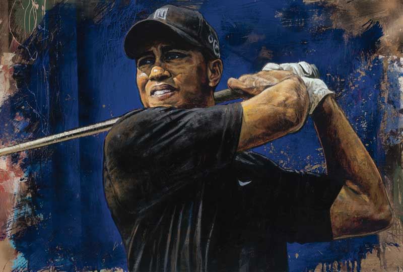 Stephen Holland - Tiger Woods - blue hawaii - limited edition print