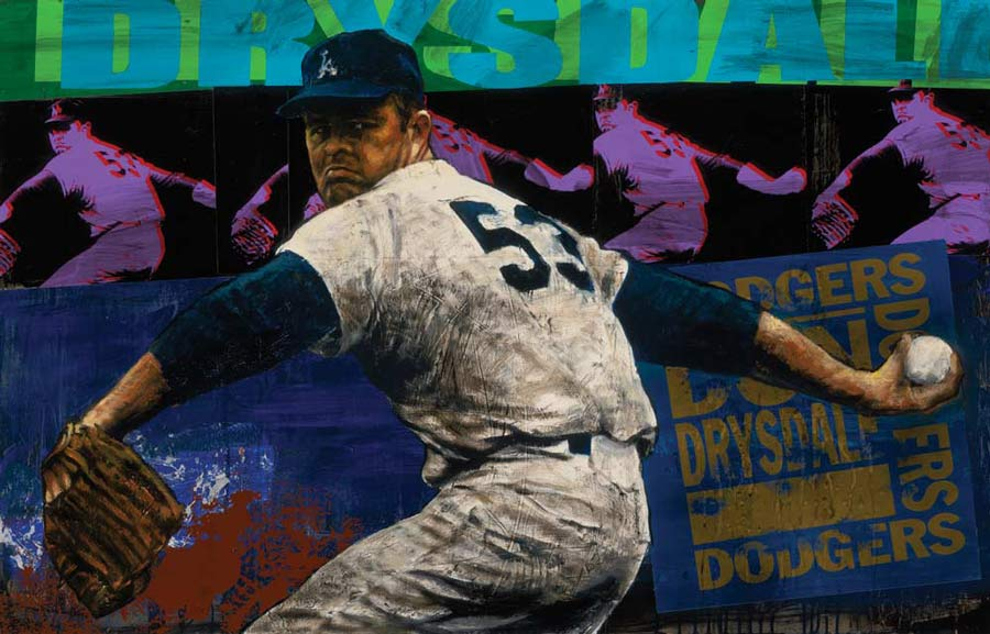 Stephen Holland - Don Drysdale - limited edition print