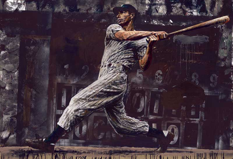 Stephen Holland - Joe DiMaggio - limited edition print