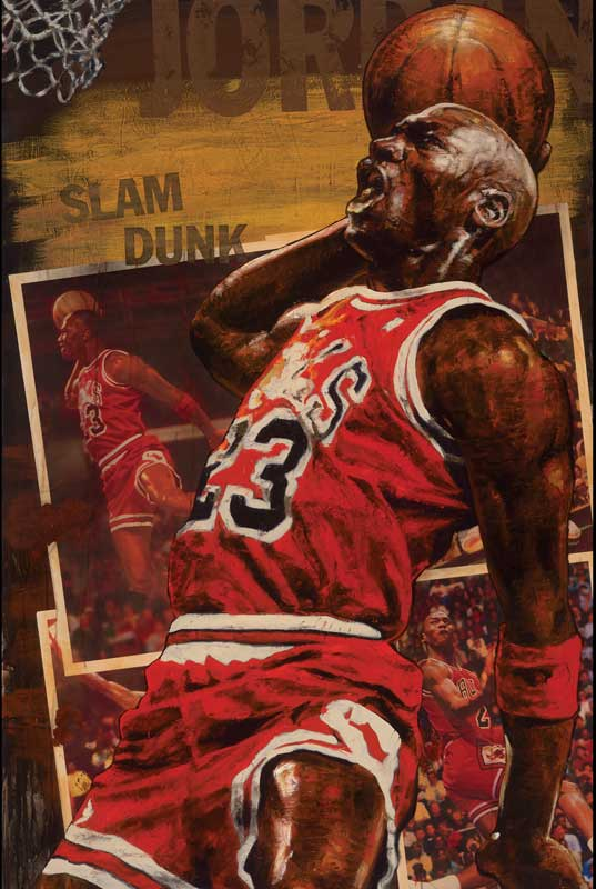 Stephen Holland - Michael Jordan Slam-Dunk - limited edition print