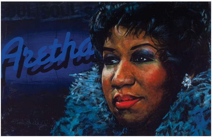 Stephen Holland - Aretha Franklin - original painting