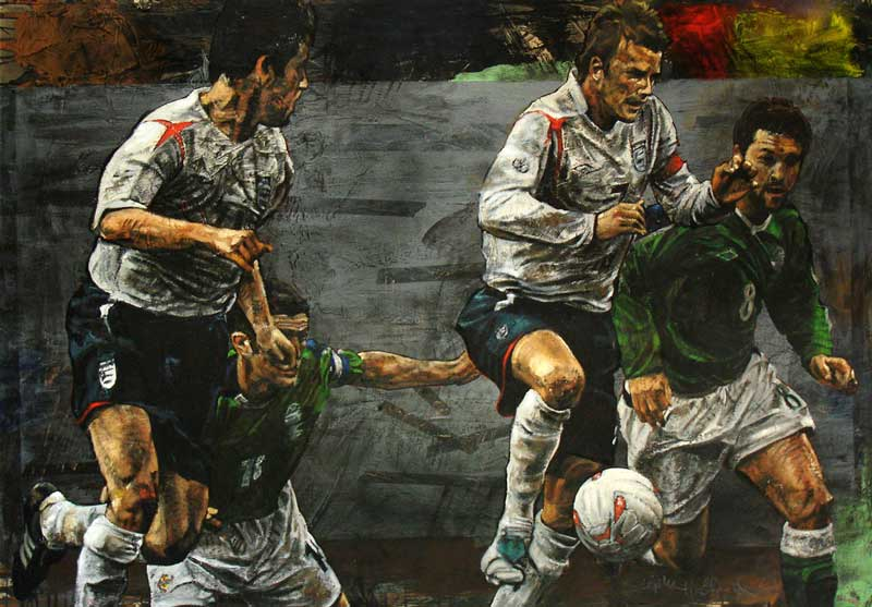 Stephen Holland - David Beckham - original painting
