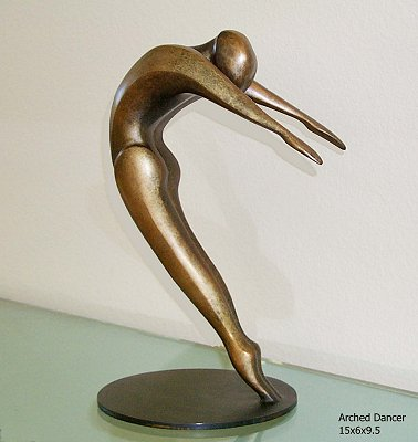 Robert Holmes - Bronze Sculpture - Arched Dancer