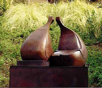 Robert Holmes - Bronze Sculpture - Conversation
