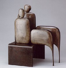 Robert Holmes - Bronze Sculpture - I am Seated Pair