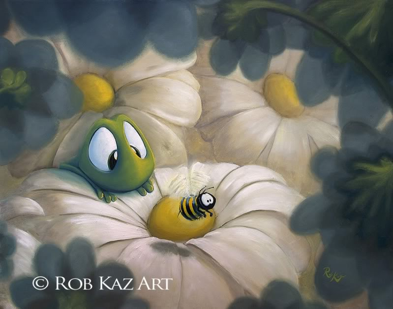 Rob Kaz - Busy Bee - signed and numbered limited edition print on canvas