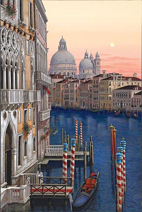 Santa Maria Della Salute  Hand-pulled serigraph on canvas 42 x 30 inches Edition size: 325 by Liudmila Kondakova