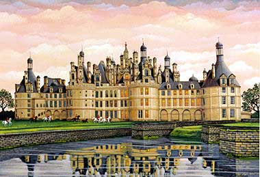 Chambord  Serigraph on Coventry smooth white paper or Koji Japon paper, paper size: 21 x 28 image size: 16 x 23 by Liudmila Kondakova