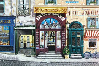 Hotel du Camelia  Serigraph on Paper (white and black) 24 x 36 by Liudmila Kondakova