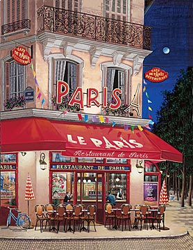 Le Paris  Serigraph on Gesso board, 28 x 22 Edition size: 325 by Liudmila Kondakova