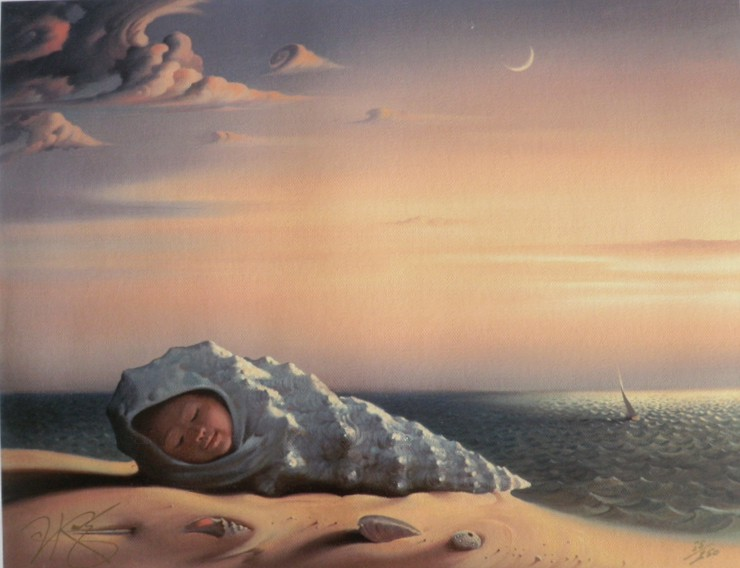 BORN FROM THE SEA 11 x 14 Edition: 50 by Vladimir Kush