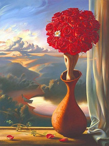 Rose Awaiting 23 x 31.5 Edition: 325 by Vladimir Kush