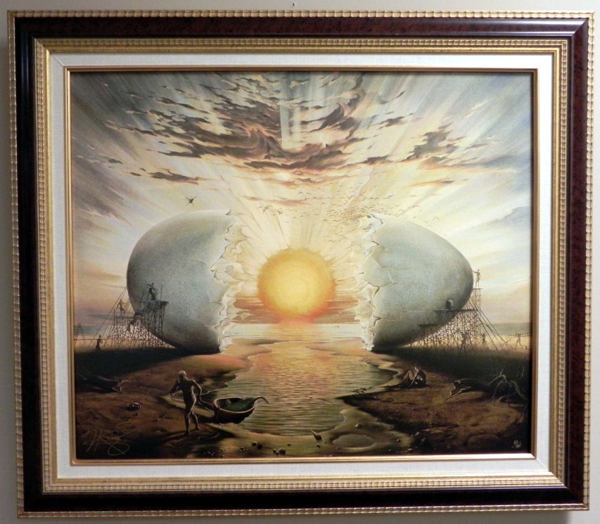 SUNRISE BY THE OCEAN 21 x 24 Edition: 325 by Vladimir Kush