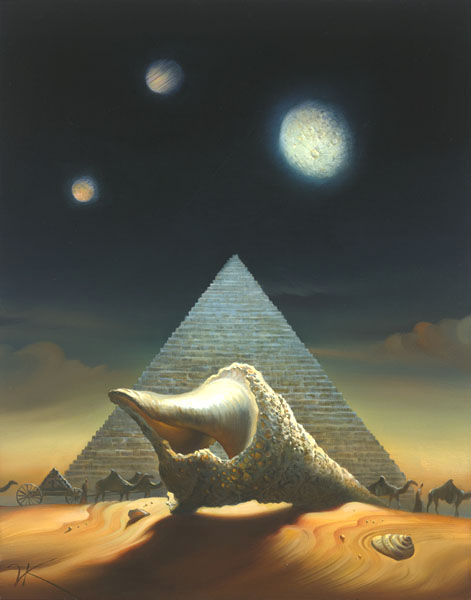 ABANDONED DWELLINGS 16 x 12.5 Edition: 325 by Vladimir Kush