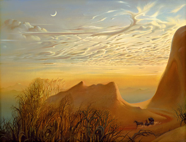 ANTICIPATION OF A NIGHT'S SHELTER 21 x 24 Edition: 325 by Vladimir Kush