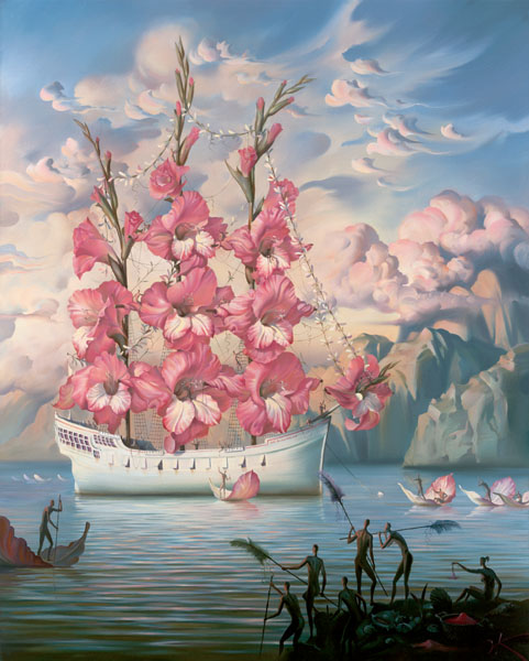 ARRIVAL OF THE FLOWER SHIP Edition: 325 by Vladimir Kush