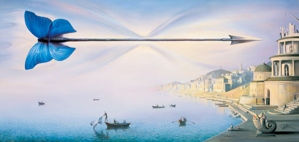 ARROW OF TIME 10.5 x 21.5 Edition: 325  by Vladimir Kush