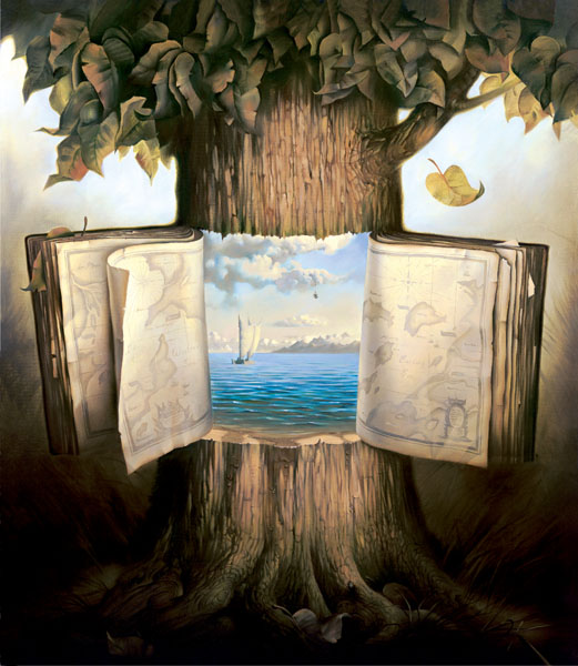 ATLAS OF WANDER 24 x 21 by Vladimir Kush