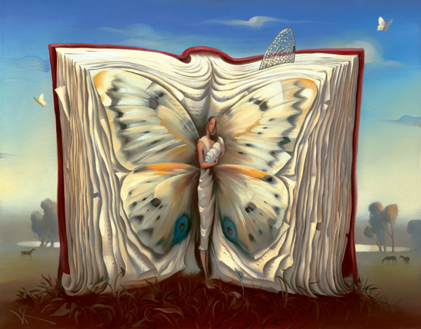 BOOK OF BOOKS 14 x 11 Edition: 325 by Vladimir Kush