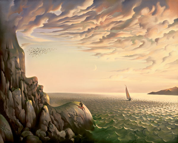 BOUND FOR DISTANT SHORES 19 x 25 Edition: 325 by Vladimir Kush