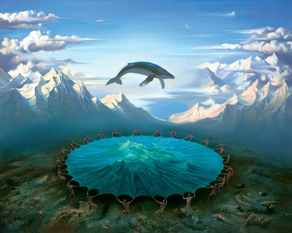 BREACH 31 x 38 Edition: 325 by Vladimir Kush