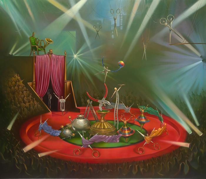 cirque du metal 39.4 x 31.5 Edition: 325 by Vladimir Kush