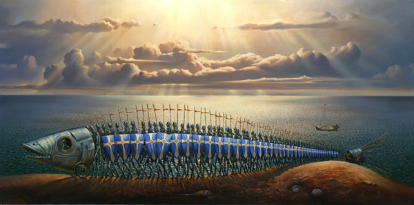 CRUSADERS 14.5 x 29 Edition: 250 by Vladimir Kush