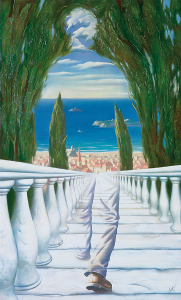 DESCENT TO THE MEDITERRANEAN 38 x 22.5 Edition: 250 by Vladimir Kush