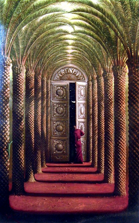DOORS OF THE NIGHT 43 x 25 Edition: 325 by Vladimir Kush