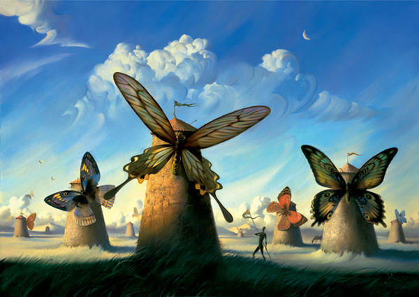 FAUNA IN LA MANCHA 32 x 43 Edition: 325 by Vladimir Kush
