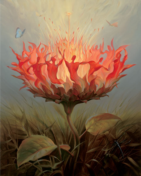 FIERY DANCE 19 x 15 Edition: 325 by Vladimir Kush