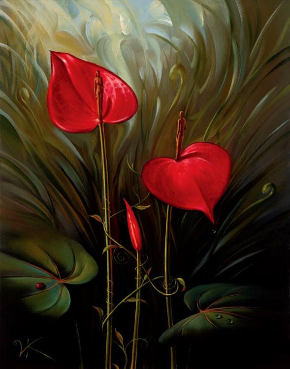 GARDEN OF EDEN 11 x 14 Edition: 325 by Vladimir Kush