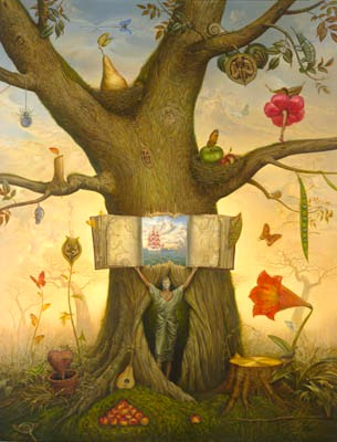 GENEOLOGY TREE 51 x 39 Edition: 250 by Vladimir Kush