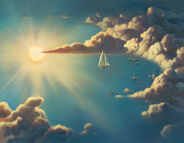 HAVEN 13.5 x 17.5 Edition: 325 by Vladimir Kush