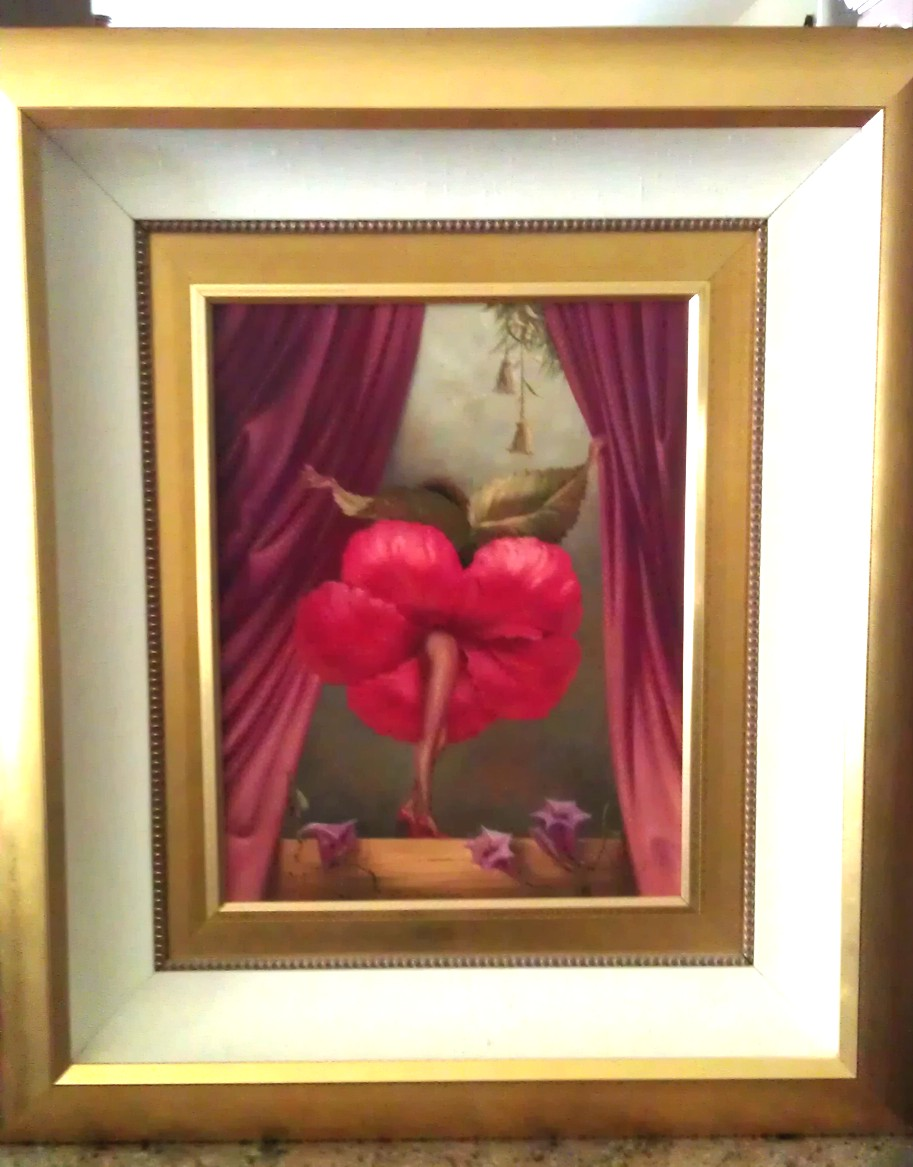 Hibiscus Dancer - original painting by Vladimir Kush