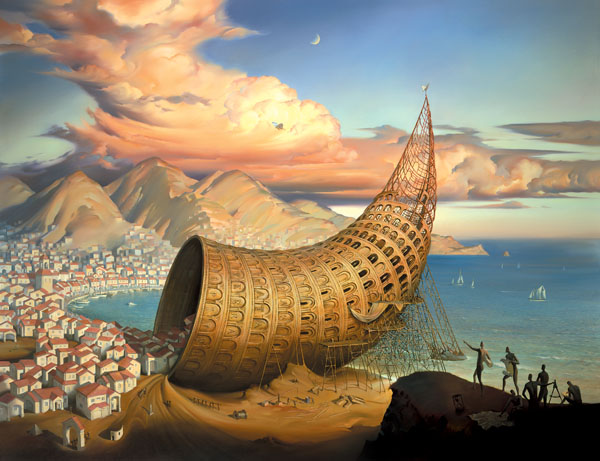HORN OF BABEL 38.5 x 50 Edition: 250 by Vladimir Kush