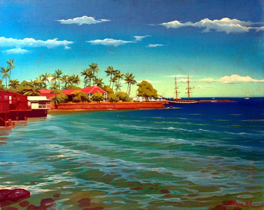 Lahaina, original painting by Vladimir Kush