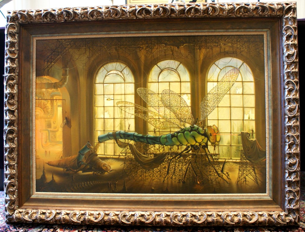 Laser Tune Up by Vladimir Kush original painting