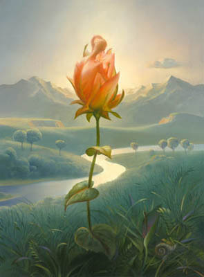 MORNING BLOSSOM 16 x 12 Edition: 325 by Vladimir Kush