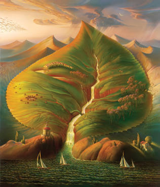 OCEAN SPROUT 32 x 38 Edition: 250 by Vladimir Kush