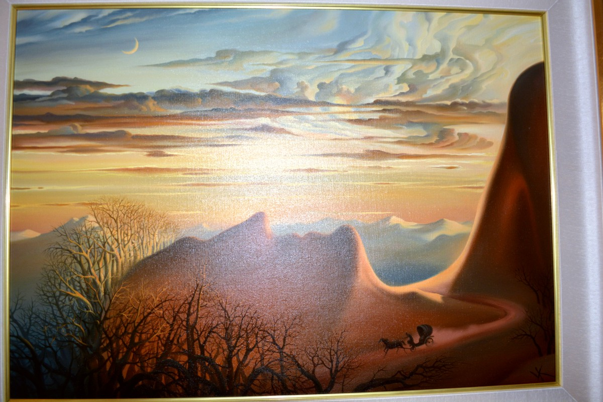 Anticipation of a Night's Shelter by Vladimir Kush original painting