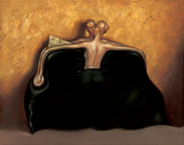 Black Purse by Vladimir Kush