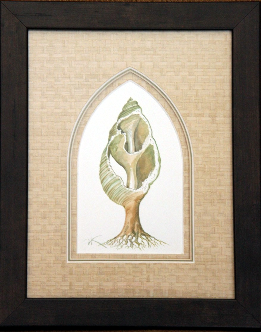 Sequioa Shell - original pen and ink by Vladimir Kush